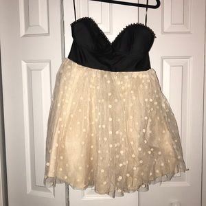 LF Dresses - Dream State faux leather and tulle party dress